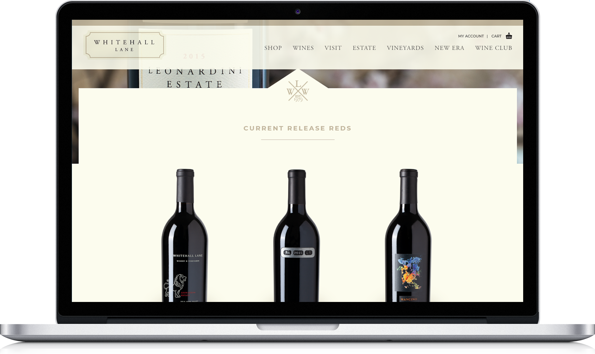 Whitehall Lane custom website