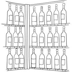 Wine bottle cellar