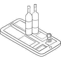Mobile Phone Wine Bottles