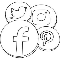 Facebook Twitter Instagram Pinterest icon